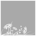Folia na okno Kwiaty O19