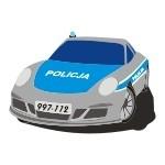 Kolorowa naklejka Policja K16