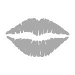 Naklejka ozdoba na lustro Usta L3