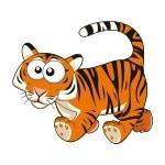 Naklejka na ścianę Tygrys K10