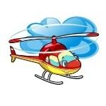 Naklejka kolorowy helikopter K9