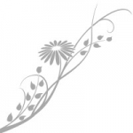 Naklejka na szyby Kwiatek O18