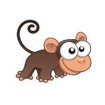 Naklejka dekoracyjna Małpka K6