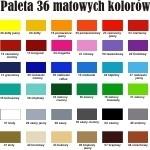 Naklejka - próbka koloru matowego