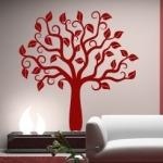 Naklejka welurowa dekoracyjna Drzewo W9