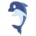 Naklejka Delfin K11