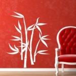 Naklejka welurowa na ścianę Bambus W7
