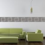 Naklejka welurowa Pasek dekoracyjny na ścianę W2
