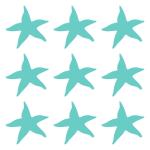 Naklejki na płytki łazienkowe Rozgwiazdy K12 - zestaw 9 sztuk