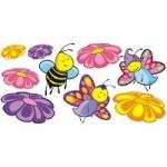 Naklejki na ścianę Kwiatki i pszczółki K15