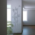 Naklejka welurowa ścienna Bambus W5