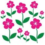 Naklejka ścienna Kwiatki M2