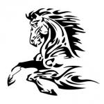 Welurowa naklejka Koń W11