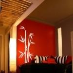 Naklejka dekoracyjna welurowa Bambus W1