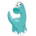 Naklejka ścienna Dinozaur K2