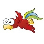Naklejka na ścianę Papuga K8