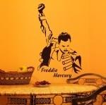 Naklejka welurowa dekoracyjna Freddie Mercury W3