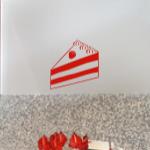 Naklejka na ścianę do kuchni Tort M10