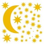 Naklejki ścienne Księżyc i gwiazdki M9