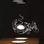 Naklejka welurowa na ścianę Florystyczna fliliżanka W6
