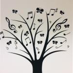 Naklejka na ścianę Drzewko muzyczne M4