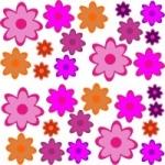 Naklejki na ścianę Kolorowe kwiaty K14