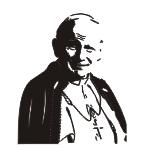 Naklejka welurowa na ścianę papież Jan Paweł II W27