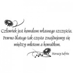 Naklejka dekoracyjna cytat Horacy Safrin M15