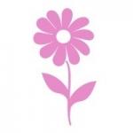 Naklejka welurowa dekoracyjna Kwiatek W2