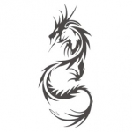 Szablon dekoracyjny Chiński smok S4