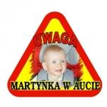 Naklejka samochodowa Martynka w aucie na folii magnetycznej A2