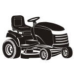 Naklejka welurowa Traktorek do koszenia trawy W7