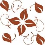Naklejka na kafelki Motyw roślinny K21