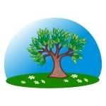Naklejka ścienna Drzewko K4