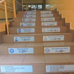 Naklejki na schody do szkoły, pola powierzchni i objętości brył przestrzennych nr K6