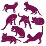 Naklejka welurowa dekoracyjna Koty W7