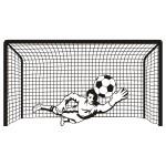 Naklejka welurowa ścienna Bramka piłkarska z bramkarzem W18
