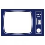 Naklejka dekoracyjna Stary telewizor M13