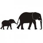 Szablony do malowania Słonie S18