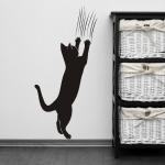 Naklejka welurowa Kot z pazurami W18