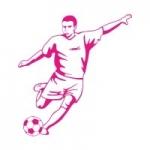 Szablon do pomalowania Piłkarz S10