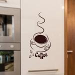 Naklejka welurowa ścienna Coffee W5