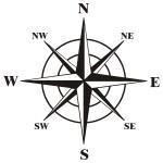 Naklejka na ścianę Kompas M11
