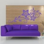 Naklejka welurowa na ścianę Kwiat W10