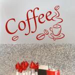 Naklejki na ścianę do kuchni Napis coffee M6