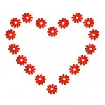 Naklejka dekoracyjna ścienna Wezgłowie serce M2