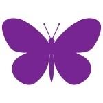 Naklejka welurowa do dekoracji Motylek W4