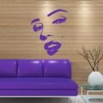 Naklejka welurowa na ścianę Twarz Marilyn Monroe W9
