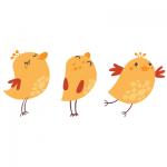 Naklejka z ptaszkami dla dzieci K2