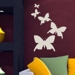 Naklejki welurowe na ścianę Motylki W11